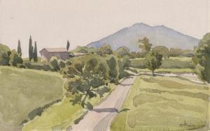 Дорога в Тоскане 2012 15х25 б, акв