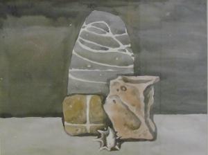 Три камня 1999 21х30 б,акв