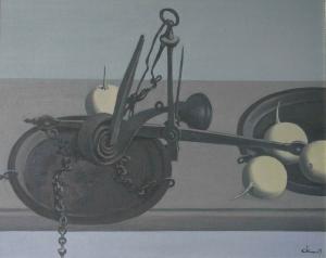 Весы и тыквы 2009 40х50 х.м