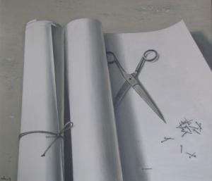 Гвозди, ножницы, бумага 2013 60х70 х,м