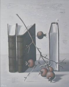 Книги и гранаты 2012 50х40 х,м
