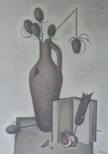 Склеенная амфора и книга 2012 70х50 х,м